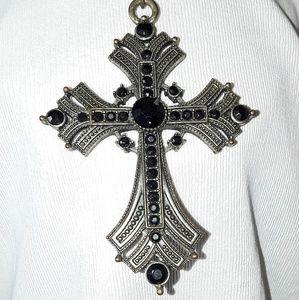 BoHo Gothic Black Cross Necklace